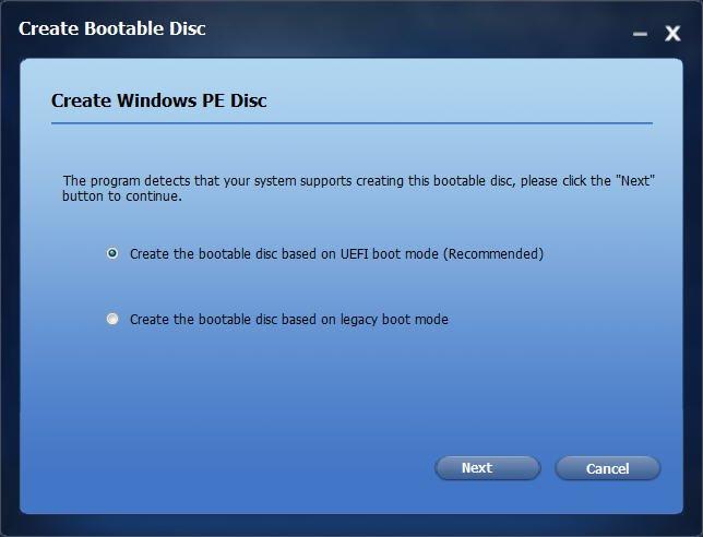 Create Windows PE Disc