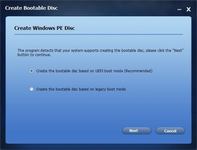 Create WinPE Bootable Disc
