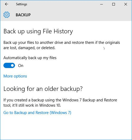 Windows 10 Backup Program