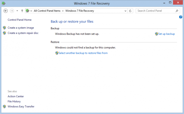 Win7 File Recovery