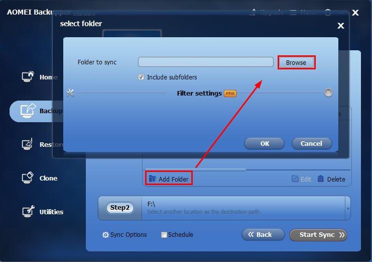 Add Folders on NAS