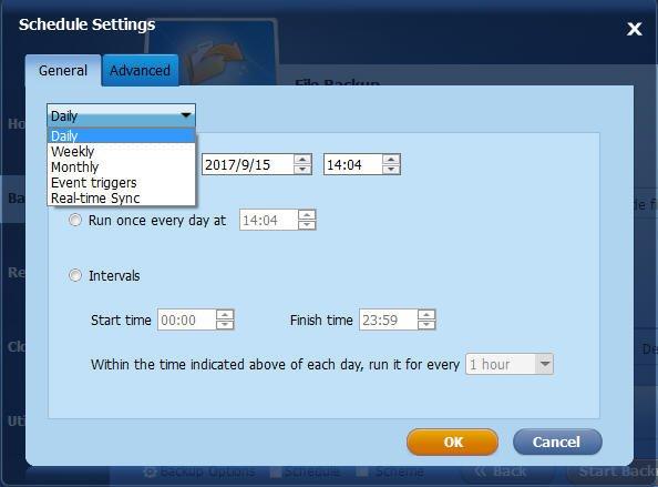 Schedule Backup