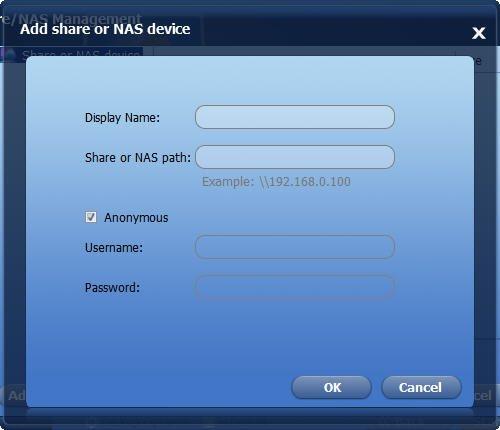 Share NAS Path