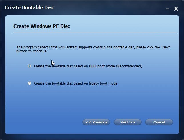 Create WinPE Disc