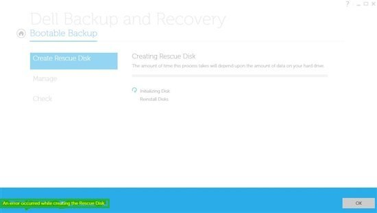 Dell Backup And Recovery Error