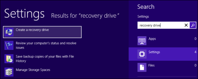 Creat Recovery Drive