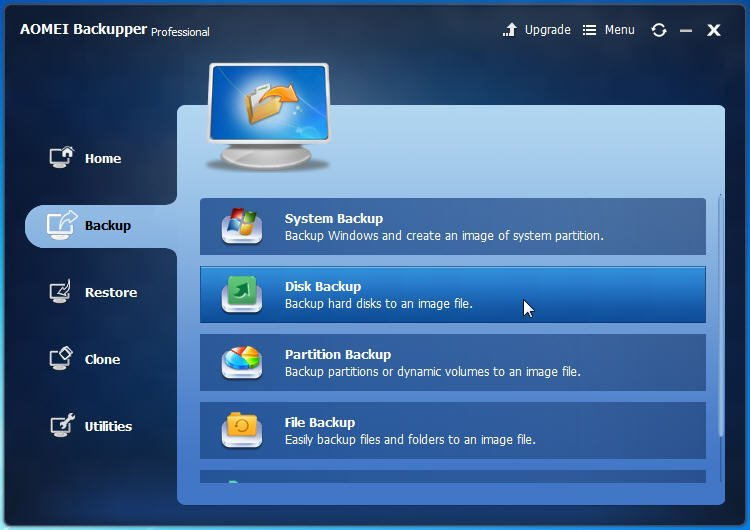 Best Disk Image Creator For Windows - AOMEI Backupper