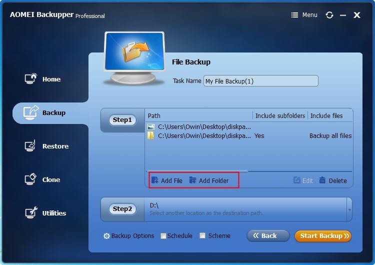 Add File Folder