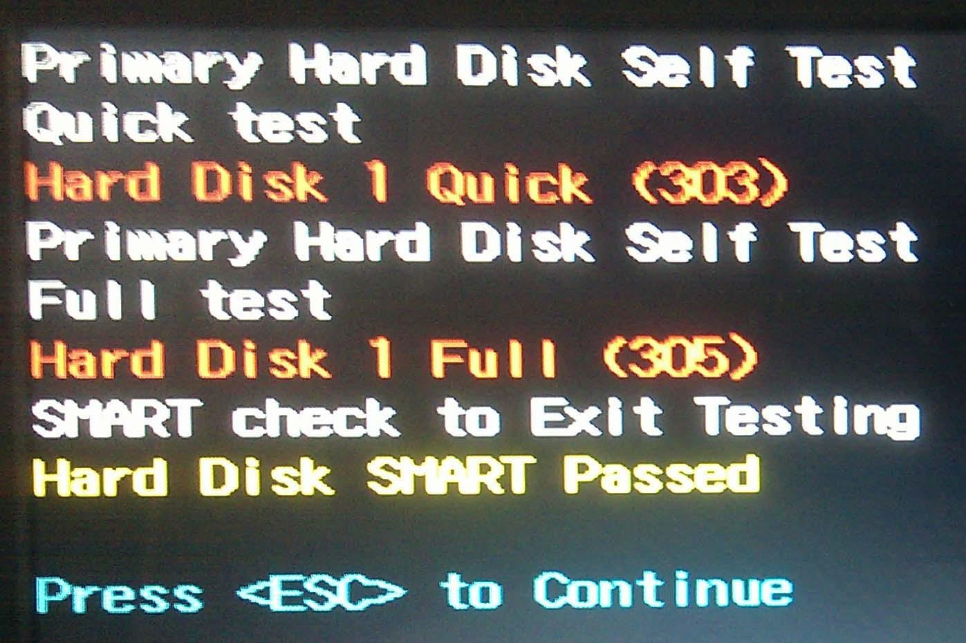 How to Deal with Hard Disk 1 Quick (303) Error?