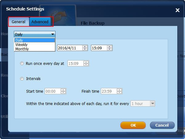 Schedule Settings