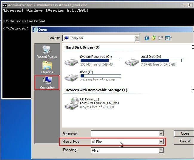 File Manager in Windows Installer