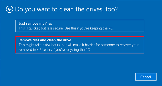 Clean the Drive