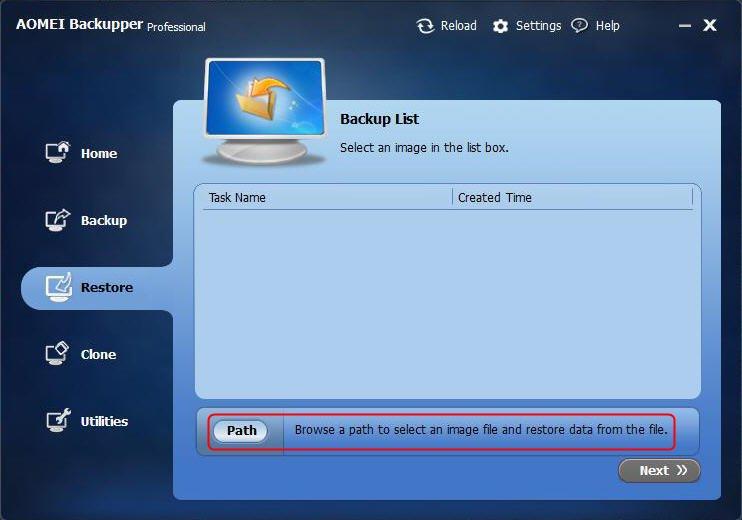 Find System Image