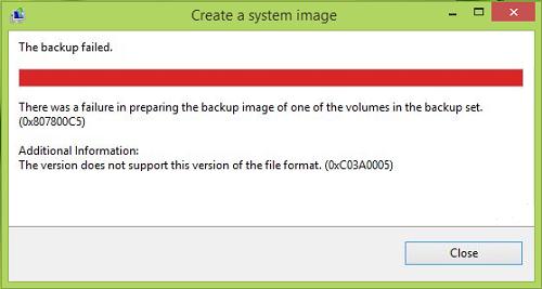 Backup Error