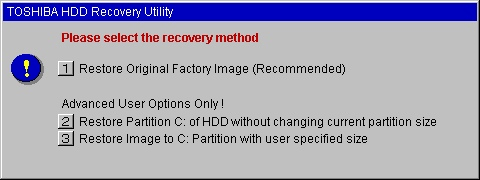 Toshiba HDD Recovery Utility