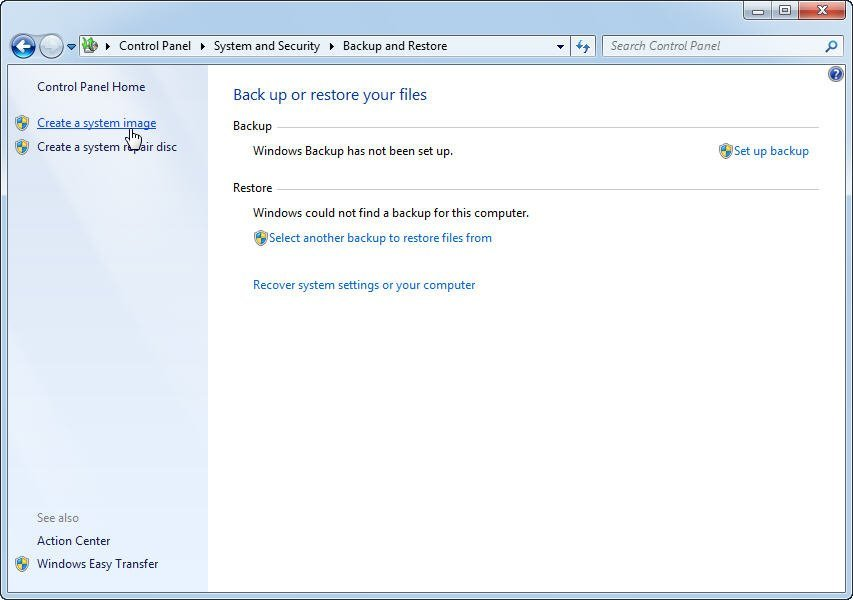 how to create image of windows 7