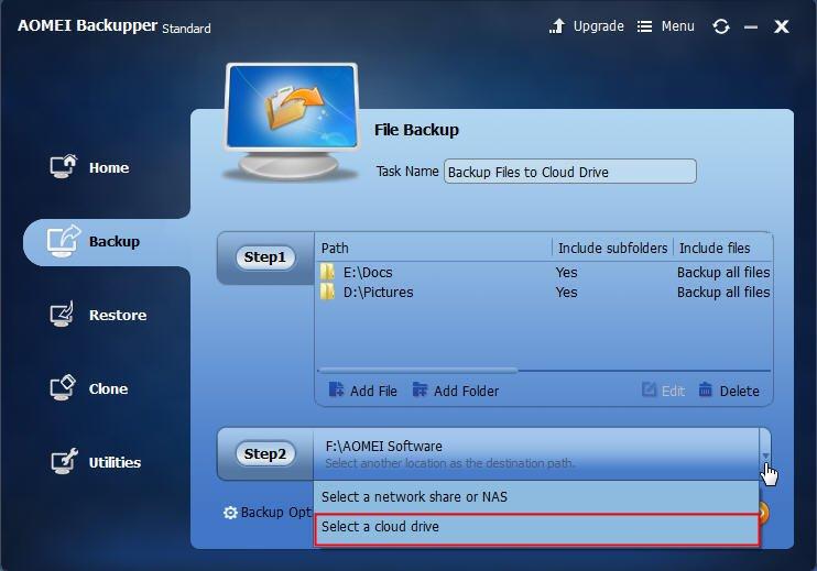 Select Cloud Drive