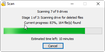 Scan Deleted Files