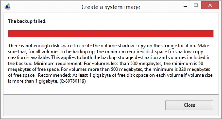 5 Methods to Fix System Image Backup Failed in Windows 10/8/7