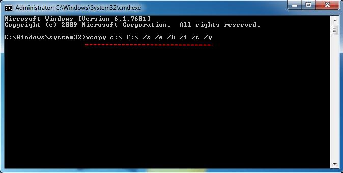 Xcopy Parameter