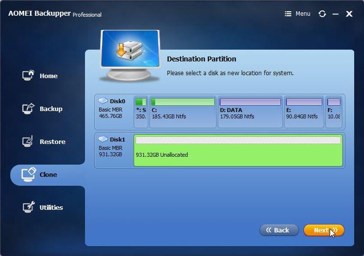 Destination Disk