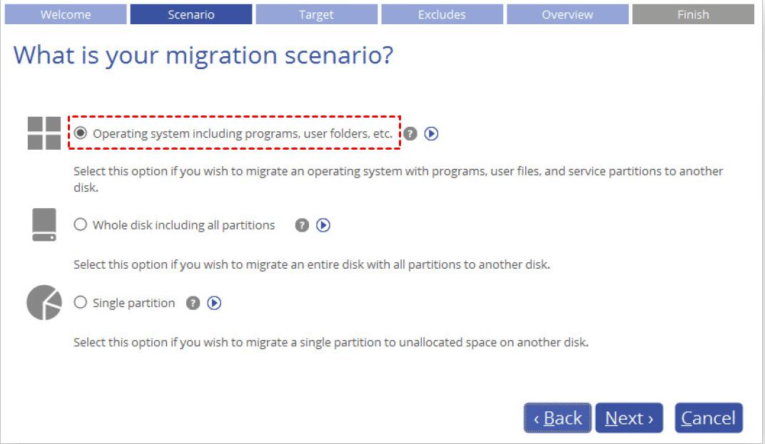 Migration Scenario
