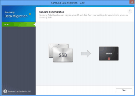 Samsung Data Migration Interface