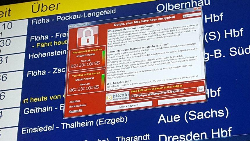 Bahnhof sind von der Hacker-Attacke betroffen