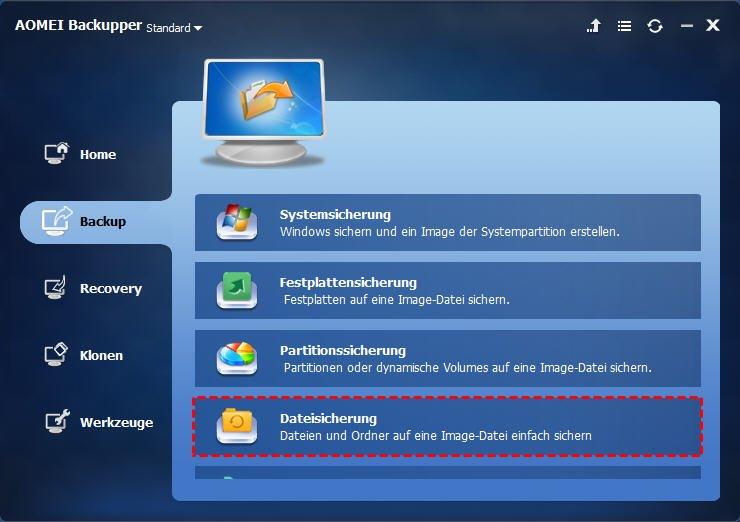 Dateisicherung