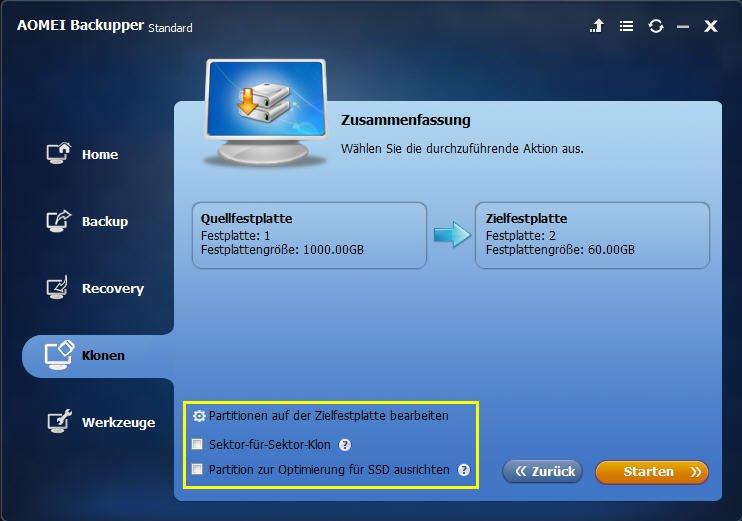 Lenovo Festplatte auf SSD klonen