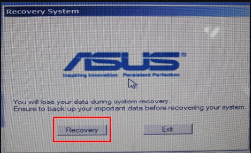 Asus Recovery System