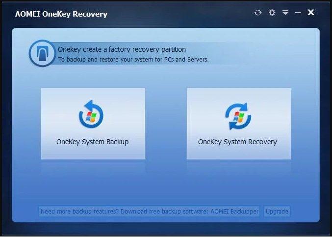 AOMEI OneKey Recovery