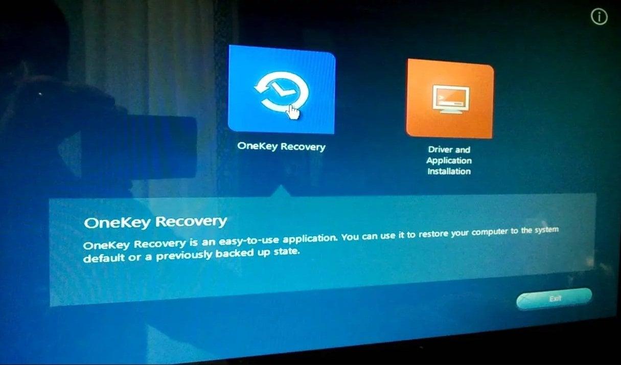 Lenovo Onekey Recovery
