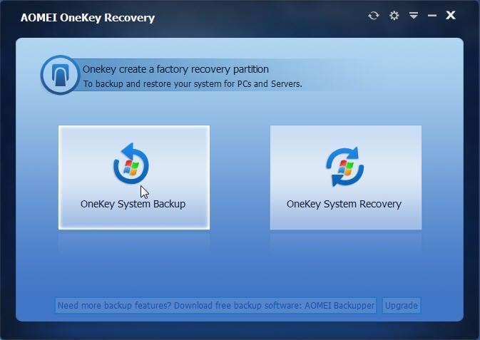 One Key System Backup