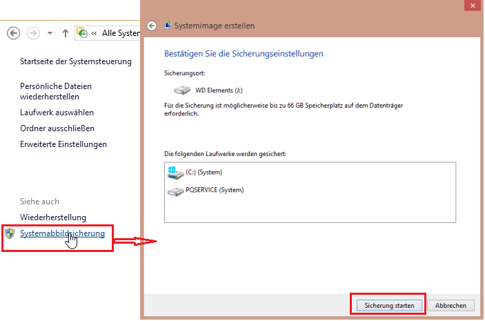 Windows 10 Systemimage erstellen