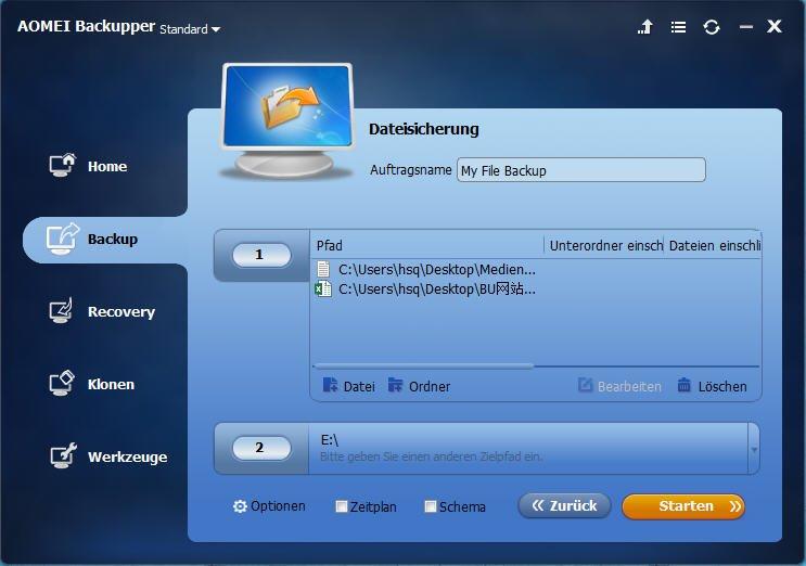 Datei wählen