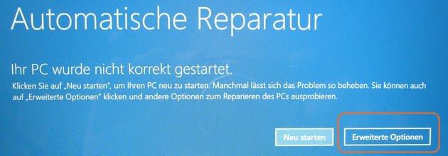 Windows Automatische Reparatur