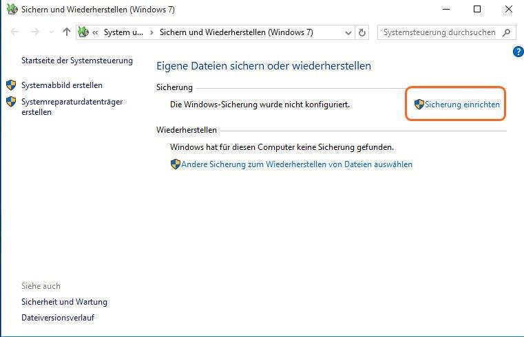 Erfahren Sie, wie Sie Windows 10 Sichern und Wiederherstellen ...