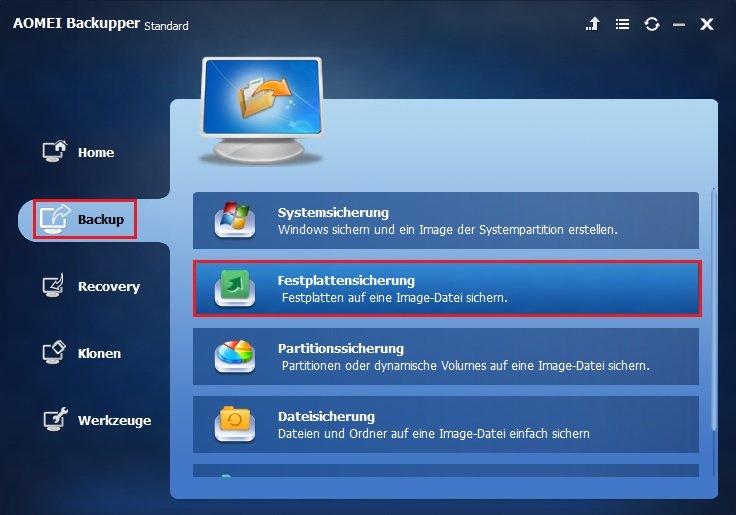 Festplatte sichern Windows 10
