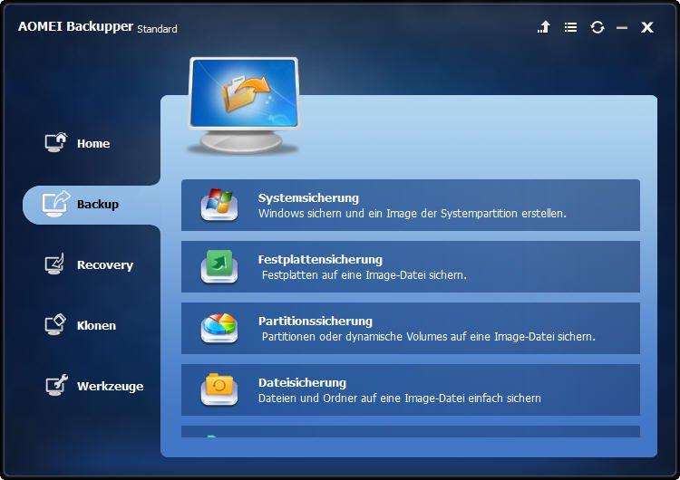 Systemabbild in Windows 7 erstellen