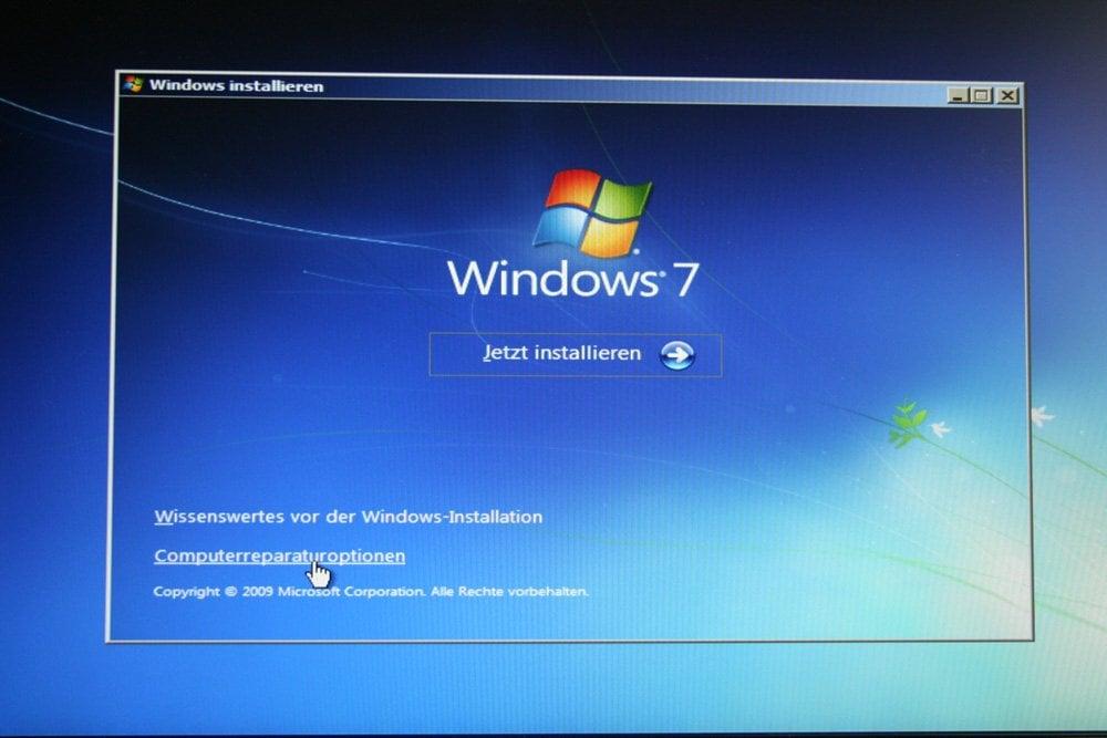 Computerreparaturoptionen