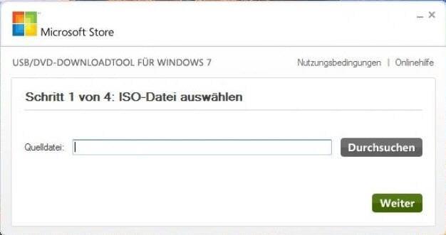 ISO-Datei wählen