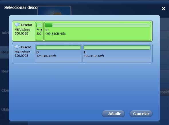 Copia de seguridad de SSD