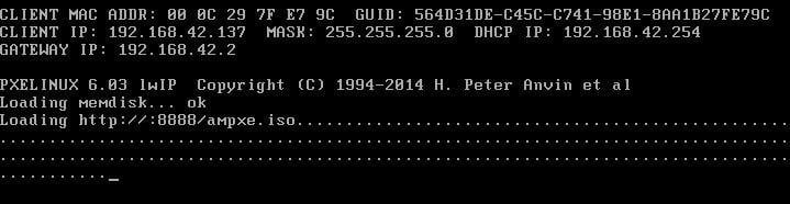 Iniciar por la red PXE