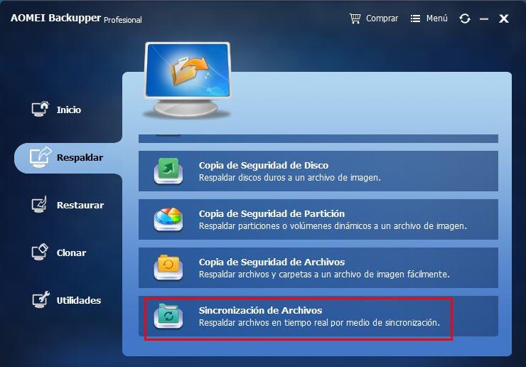 sincronizacion de archivos