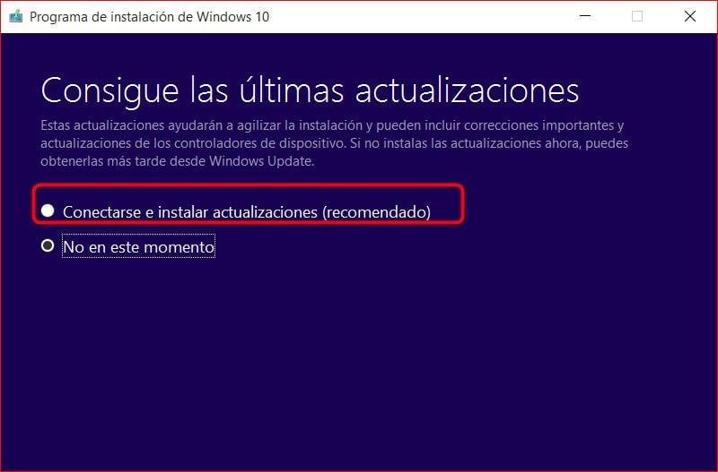 Actualización de Windows 10