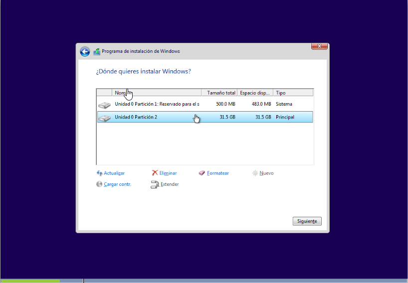Instalar Windows 10 en SSD