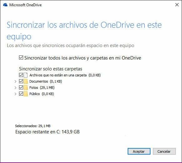 Sincronizar Los Archivos con OneDrive