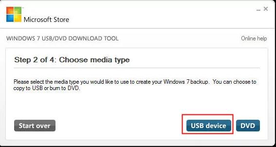 Elegir Unidad USB