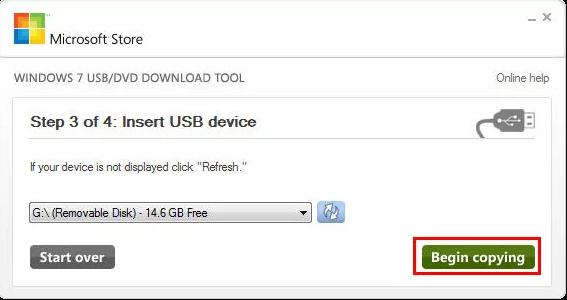 Insertar Unidad USB